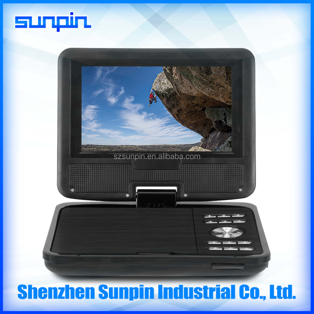 2017 New Mini Portable DVD Player with 7 Inch Digital Screen HD Display