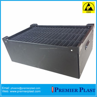 esd/conductive turnover box for electronics/electronic parts/tools