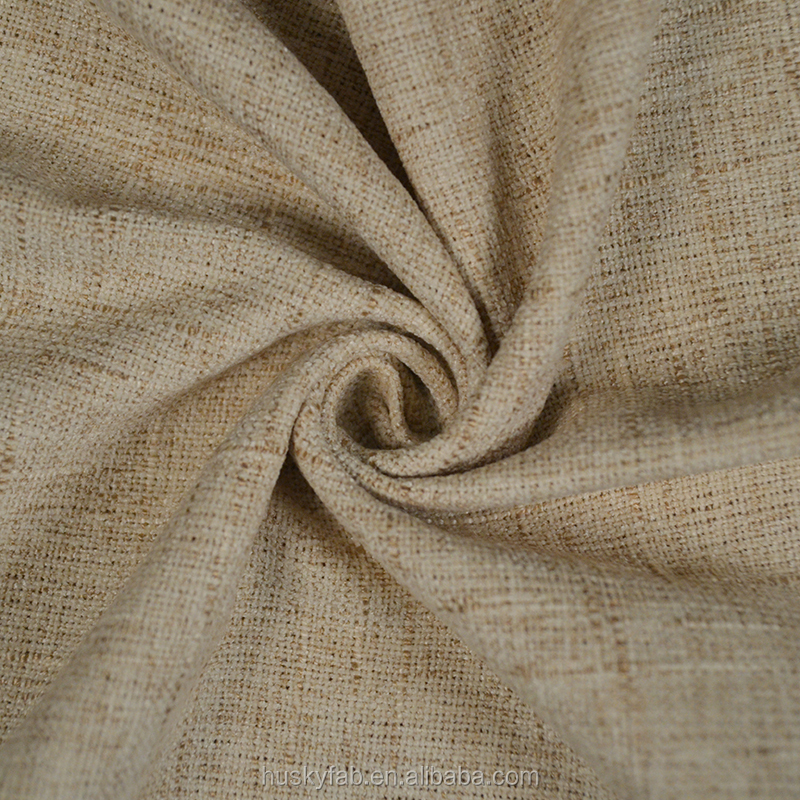 Husky top sales classical plain table cloth fabric textile, polyester and viscose mixed material linen fabric