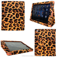 fashion tablet case for iPad 3 in leopard pattern*FREE LOGO