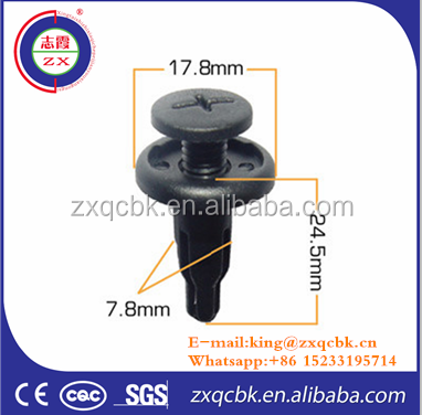 Good performance auto body plastic car clips auto bumper clips of high price