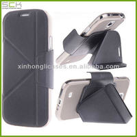 Android smart phones cover for samsung galaxy s4 leather case