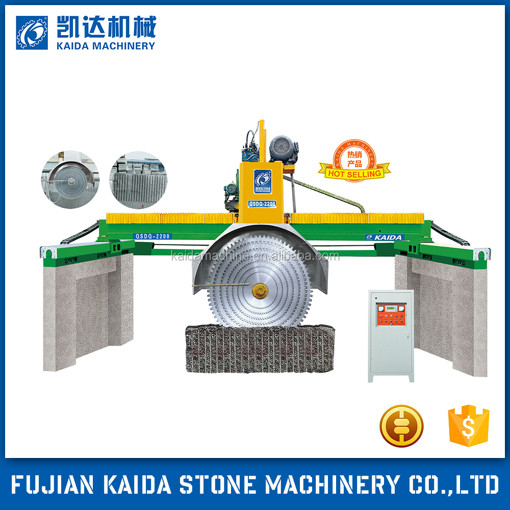 Bridge multi blade granite cutting machine marble tile cutting machine stone cutting machine