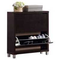 Modern Display Shoe Rack and Wardrobes Metal 2 Doors Shoe Cabinet with 1 drawer