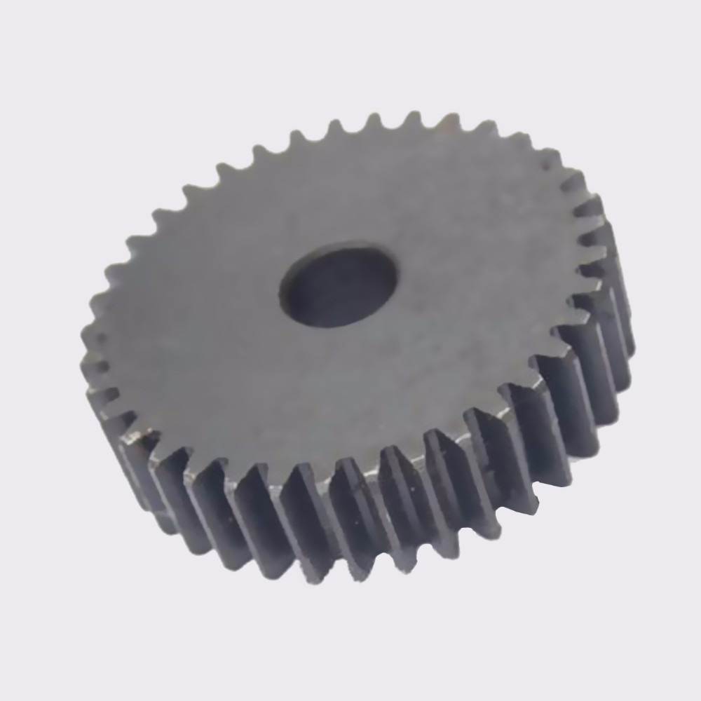 MMS Large plastic helical spur gear with steel core