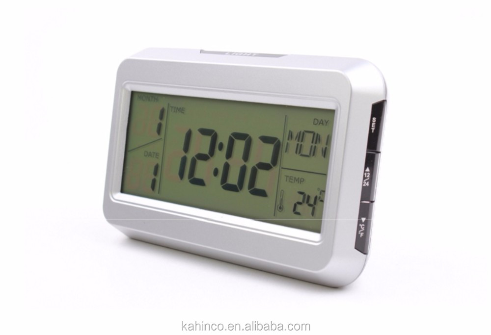 Multifunctional Promotion Gift Voice Sound Control Backlight LCD Alarm Clock KD-2616