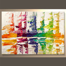 Handmade Cheap Abstract Canvas Art For Decor