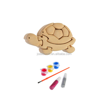 3D wooden craft puzzle turtle