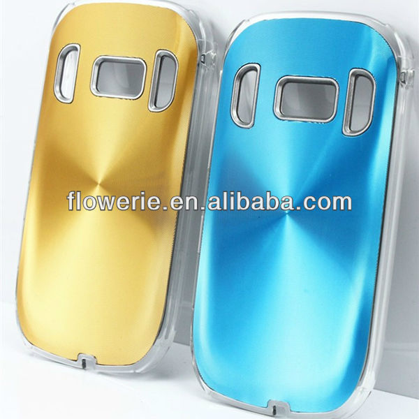 FL2228 2013 Guangzhou hot selling aluminium cd pattern back cover phone case for nokia c7
