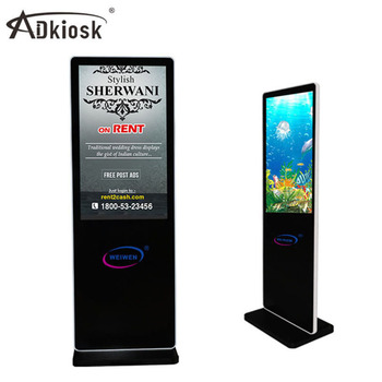 43 inch smart lcd ad player with floor stand advertising display monitor indoor digital billboard