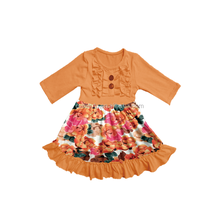 Latest boutique baby clothing flowers children wedding party dresses for girls