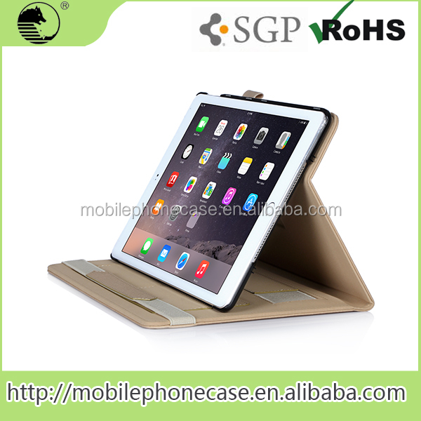 New Design leather protective leather tablet cover case For Apple iPad Air 2