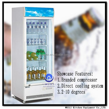 single glass door refrigerator without freezer