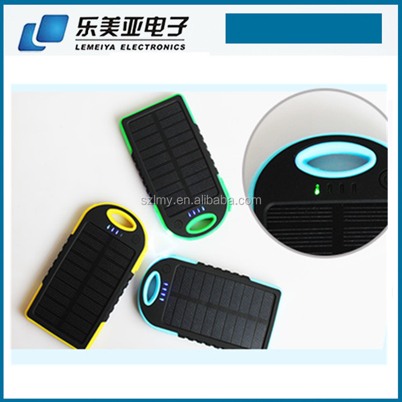 For mobile phone solor power charging 5000mAh solar power bank