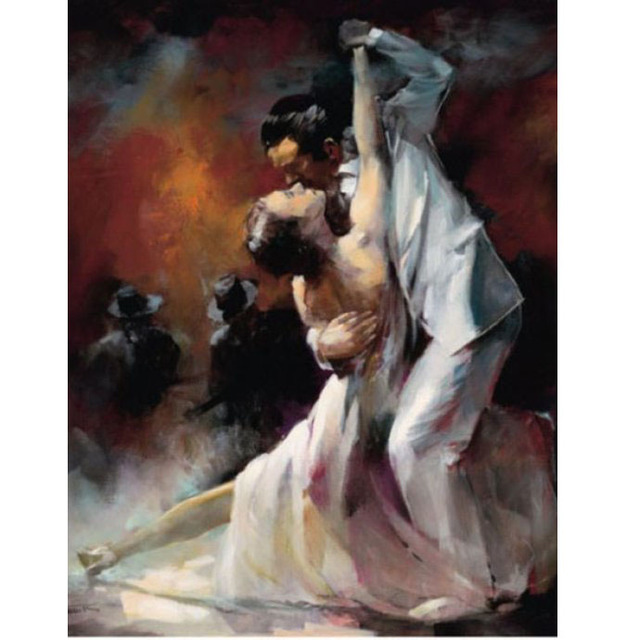 Artist Handmade tango Oil Paintings tango art Spanish Flamenco Dancing On Canvas Flamenco Dancer wall decor abstract Decorative