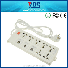 EU/US/UK/AU plug china manufacturer flexible wire electric extension sockets, Travel universal usb charger extension socket