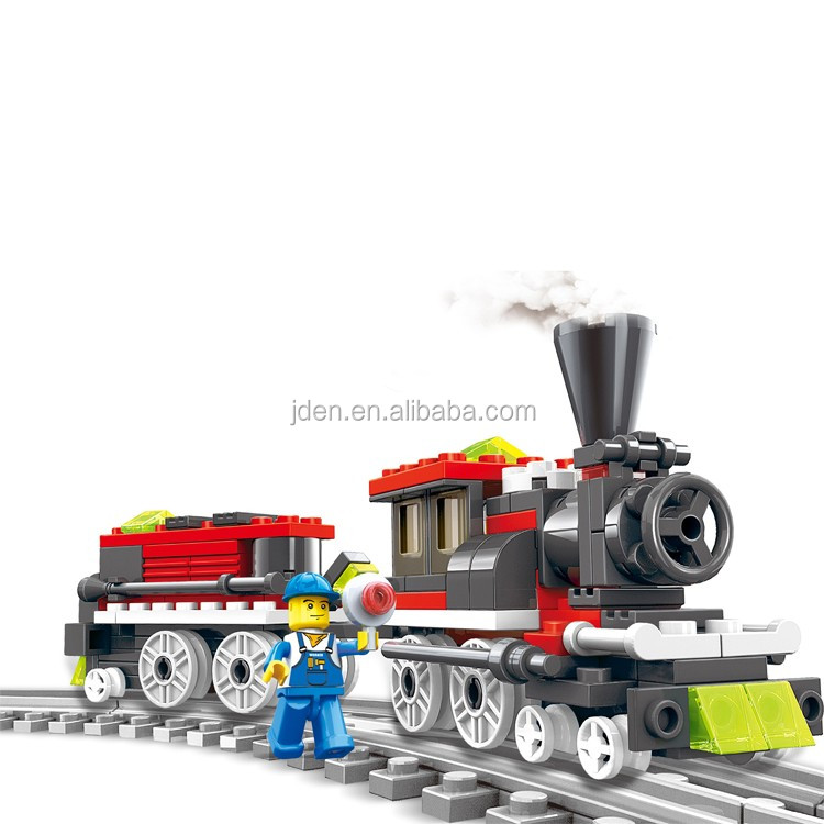 WANGE International Play Group Toy Freight Train building block set