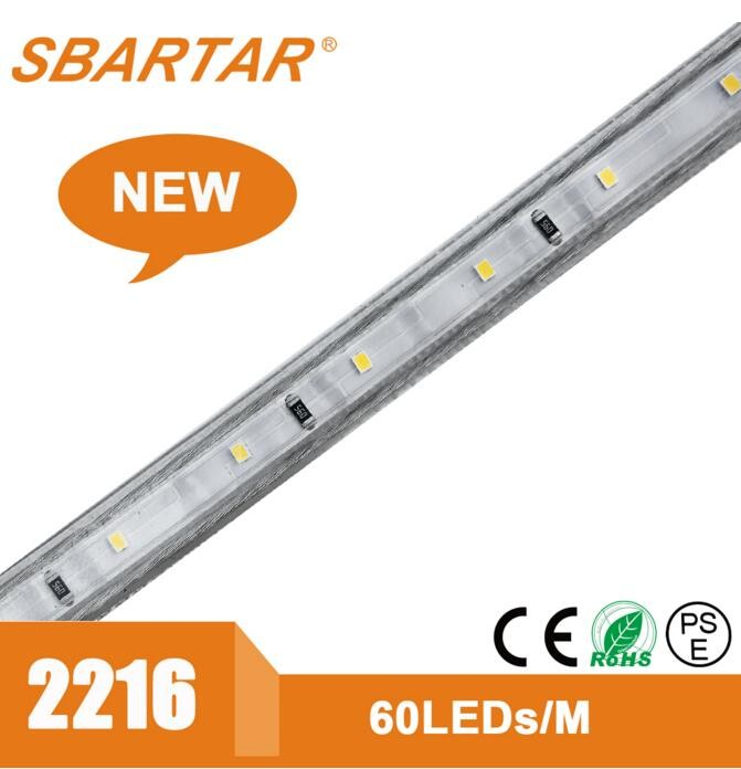 Shenzhen LED Lighting Manufacturer 2216 led strip light epistar chip led strip