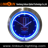 15inch Neon Tower Shape Wall Clock