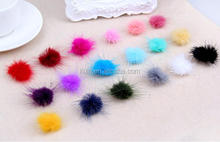 GB-13 Colorful ball for garment shoes small pom pon decoration mink fur ball