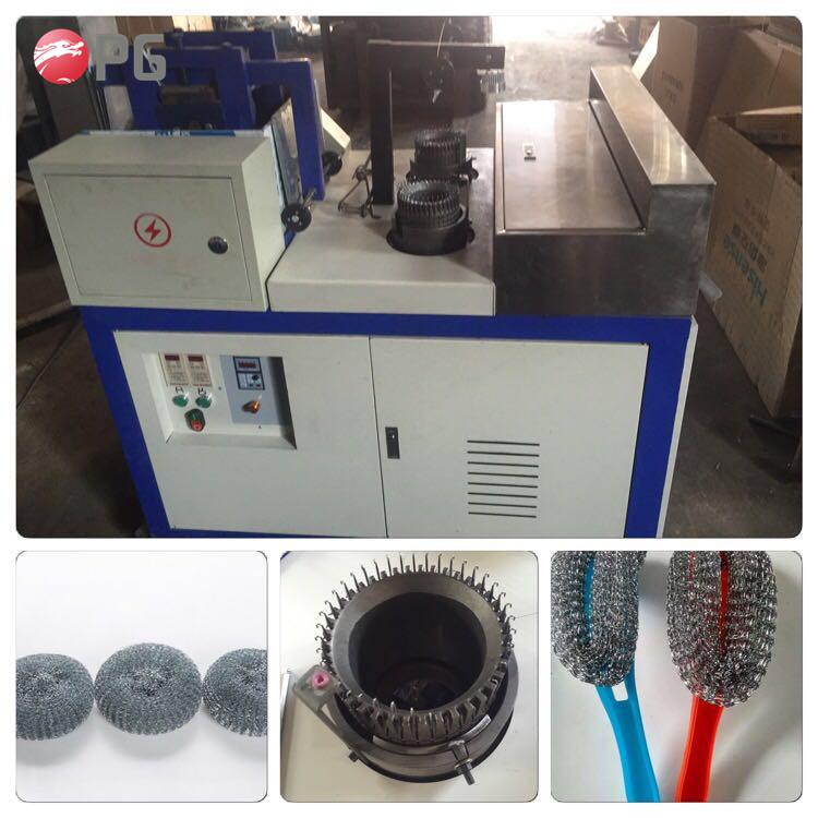 kitchen cleaning ball wire mesh scourer making machine