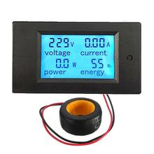 Digital AC Voltage Meters 100A/80 260V Power Energy analog Voltmeter Ammeter current Amps Volt meter LCD, voltmeter and ammeter
