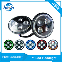 hiwin 7inch round IP67 E-mark approved low beam 48w fog light for toyota vitz HW-7048