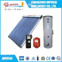 Open/Closed Loop Separated Heat Pipe Solar Water Heater System
