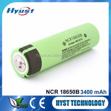 Hot Sale NCR18650B Li-ion Battery NCR18650B 3400mah 3.7V battery cell with button top no protection for flashlights