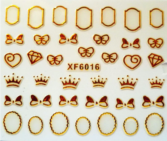 factory price Nail metal decal Nail Gold decal stickers nail metal stickers