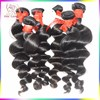 Kiss Locks Superior Quality Virgin Human Peruvian Hair Wefts Natural Color Loose Wave Hair Bundles Best Price