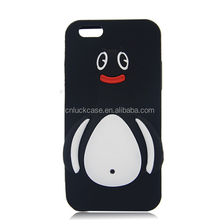 2017 Hot trending cute penguin soft silicone customized phone case for Iphone 6S