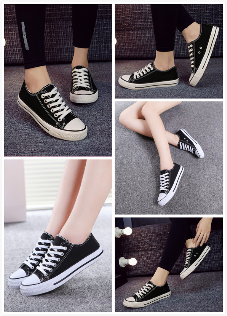 Classic latest white black blank lace up cheap wholesale zapatos custom printed all star casual men women canvas sneakers shoes