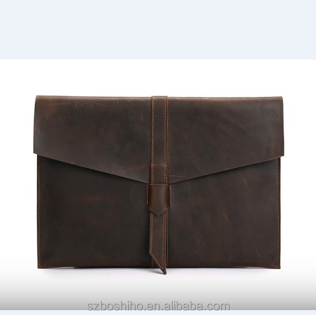Boshiho laptop bag computer notebook case bag sleeve Leather sleeve