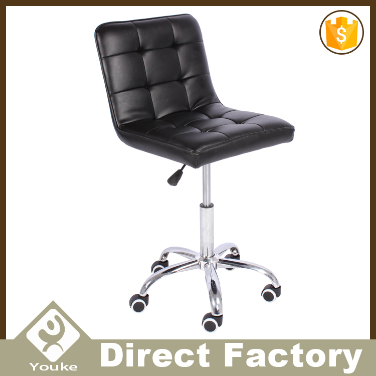 Home kitchen metal bar stool chair with wheels