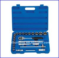 "26-Piece Ratchet and Metric Socket Set, 1/2"" Drive"