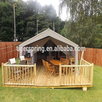 Spacious comfortable large canvas outdoor glamping safari tent