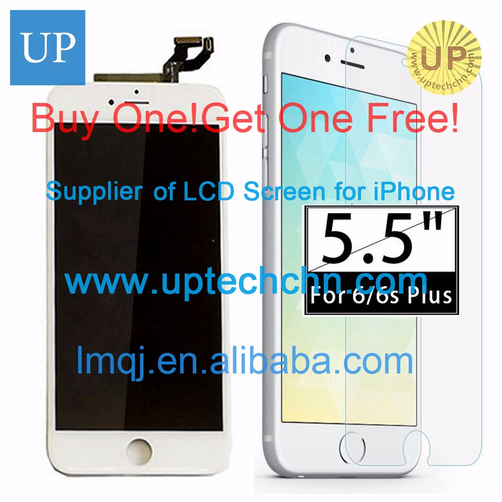 Mobile phone spare parts black touch screen with frame for iPhone 6
