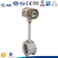 316 stainless steel gas / liquid clamp on vortex flow meter