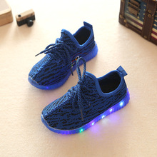 New arrival soft mix colors LED kids shoes