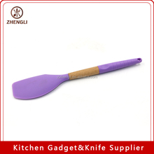 218 Kitchen supplies oak handle silicone kitchen utensils and appliances