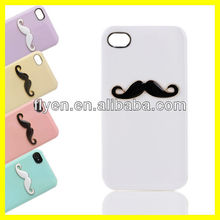 "Beard Smile Pattern Slim Ultrathin Case for iPhone 5 5"" Plastic Hard Case Unique Style Charming Bling Cell Phone Case 2013 Hot"