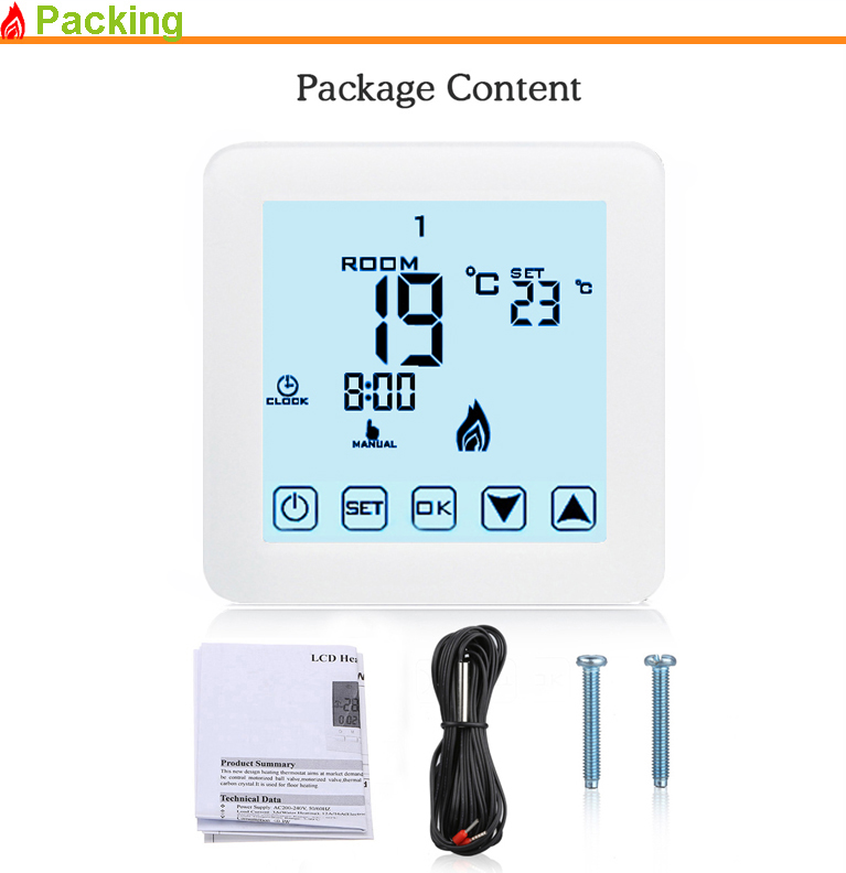 Programmable Radiant Floor Heat Film Thermostat For Underfloor Warming