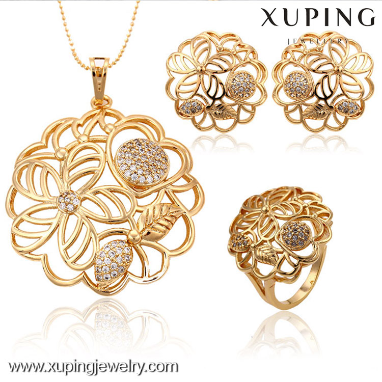 63144-Xuping Jewelry Wholesale Woman Gold Plated Jewelry Set With New Design