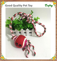Chew Rope Toy Green for Dogs Puppies - with Strong Play Ball for Tug of War - Best for Medium & Small Breeds-17.7inch