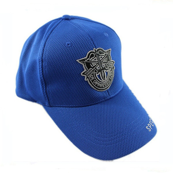 High quality custom embroidered blue 100% cotton 6 panel Baseball Cap