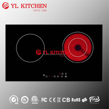 Two burners multi solar induction&ceramic cooker