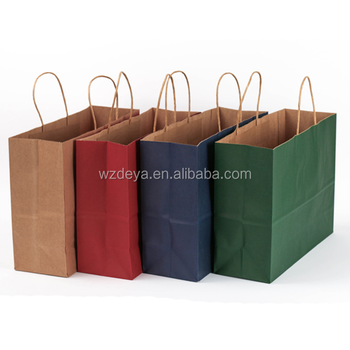 Custom luxury recycle shopping Kraft paper bag with handle