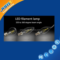 Dimmable and non dimmable A60 G45 LED filament bulbs