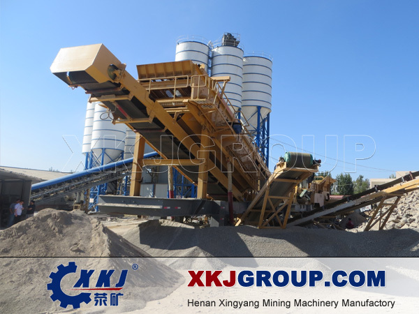 china new design mobile crushing station
